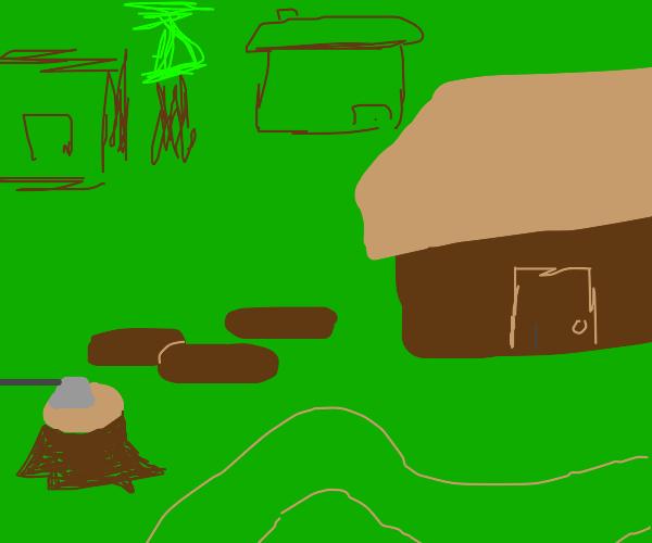 A desolate village