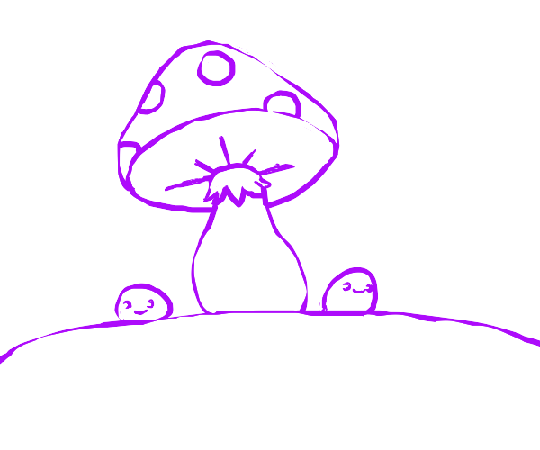 blobs under the mushroom tree