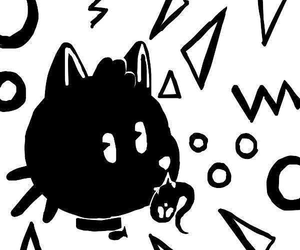 Cat eats ghost