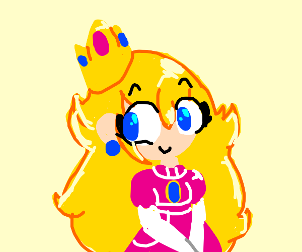 Princess with blonde hair and pink dress