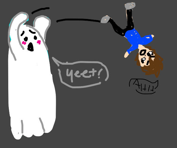 ghost throws child