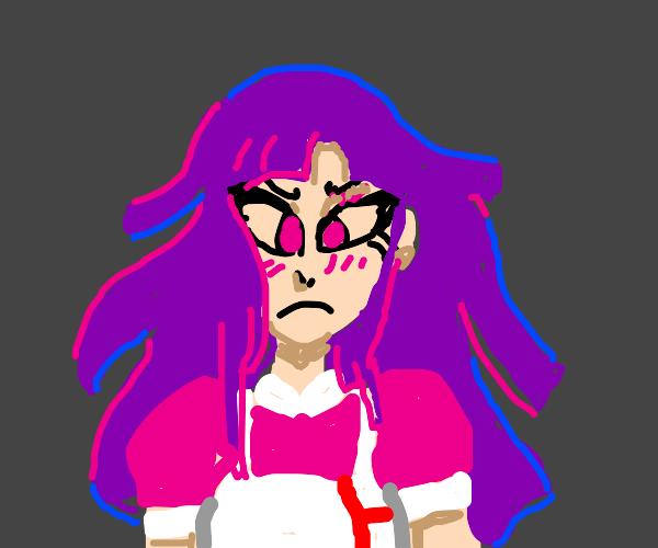 angry anime girl