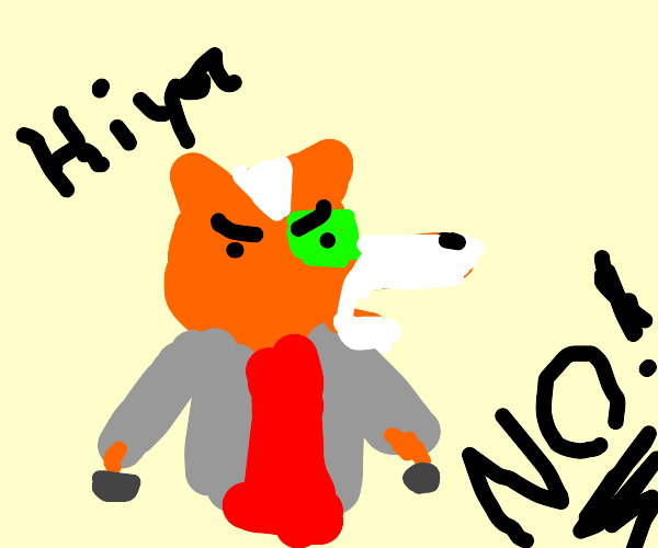 Disappointed fox