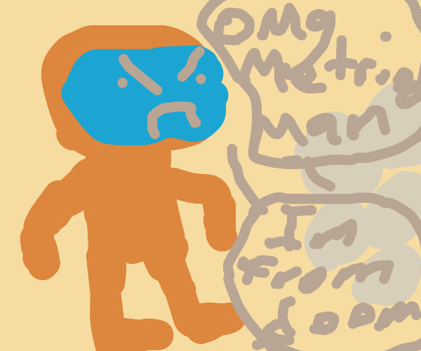 Orange Doom Guy gets mistaken for Metroid Man