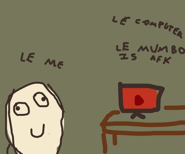 Le watchin YouTube on a computer