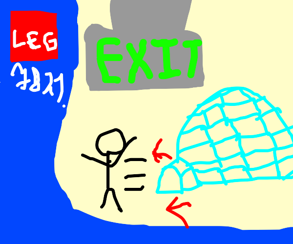 Instructions on how to escape an igloo