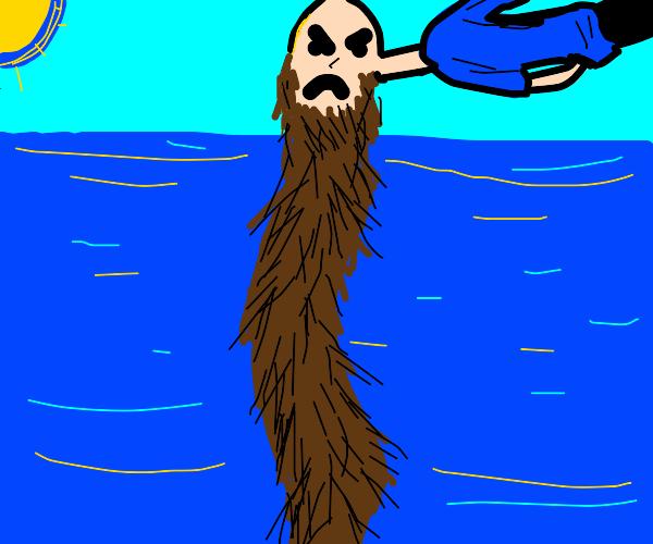 disgruntled bearded man