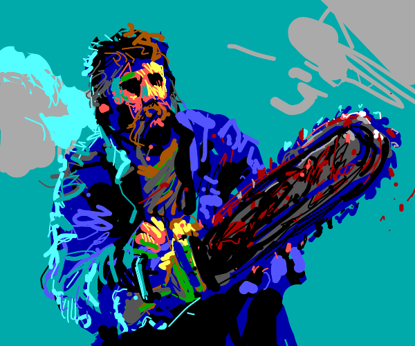 Hobo with chainsaw