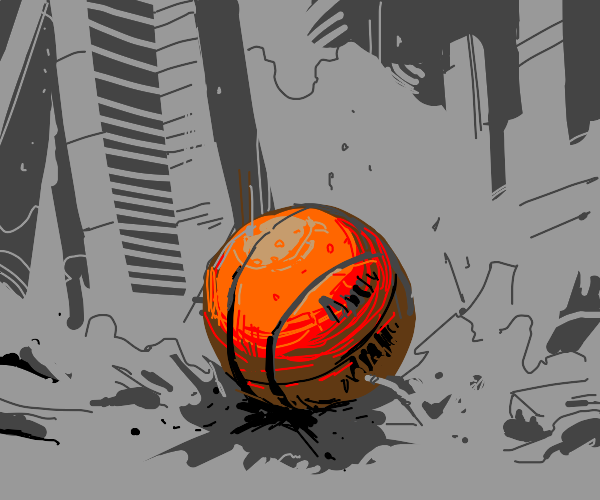Death by giant basketball