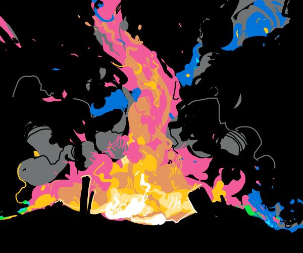 flaming tornado