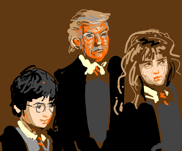 Harry Potter/Hermione/Donald Trump crossover