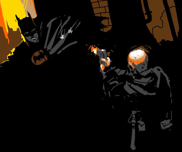 security guard shoots batman