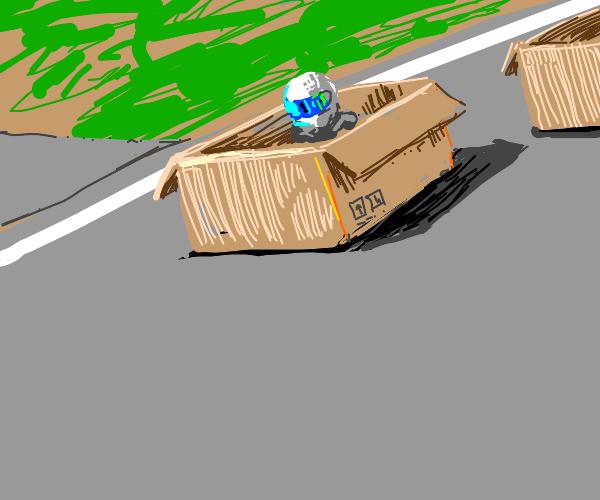 Racing box cars