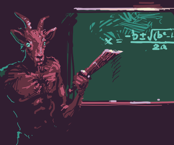 Demon goat teaches the quadratic equation