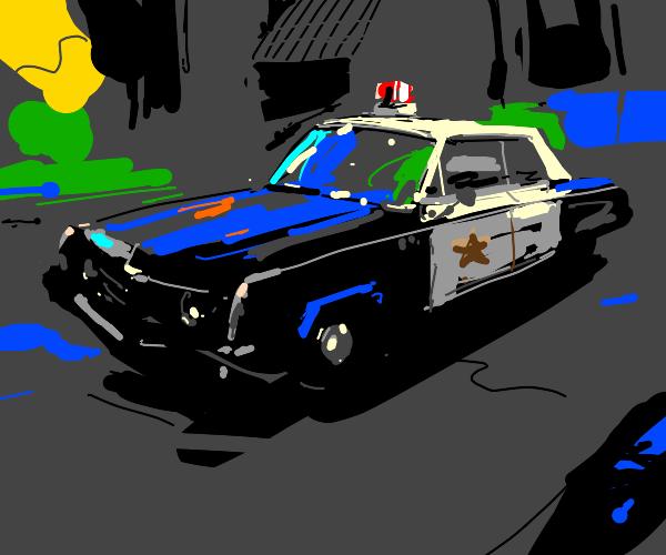 Old-time police car
