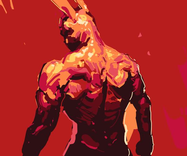 Buff golden bunny man