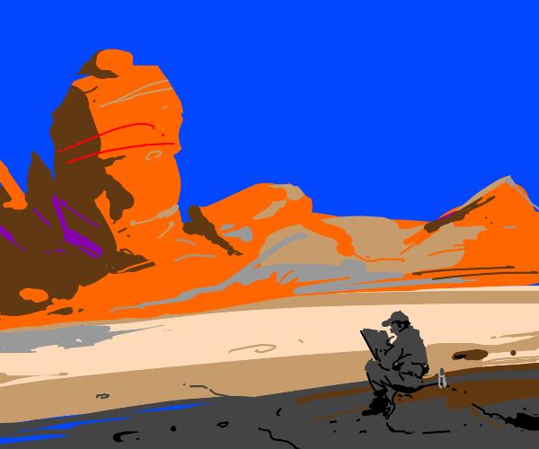 Illustrator in the Desert