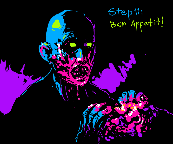 Step 10: Return at night to eat corpse
