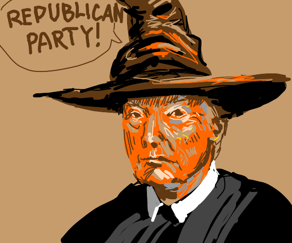 Trump has become a hogwarts student
