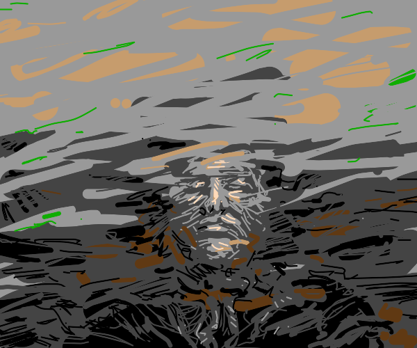 Man in dark water