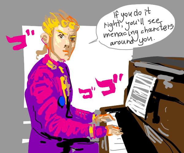 Giorno's Bizzare Piano Lessions