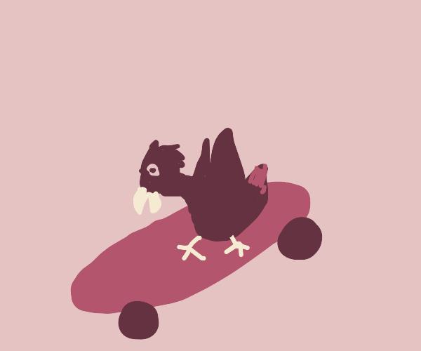 tony hawk, but he's a tiny hawk
