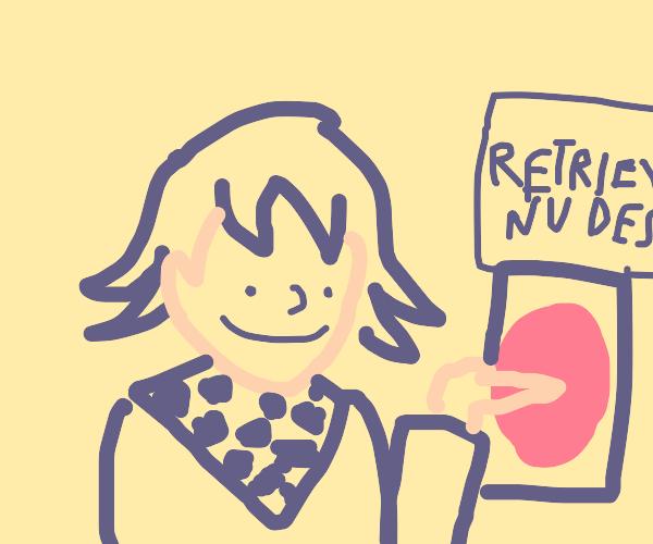 Kokichi doing a sextortion scam