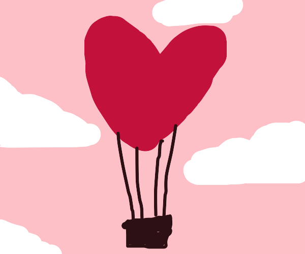 Love air balloon