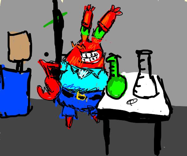 mr krabs runs a drug lab