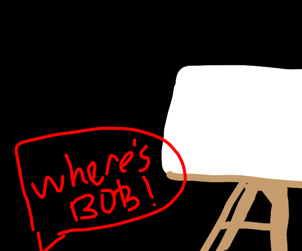 """A """"Joy Of Painting"""" episode, but Bob is late"""