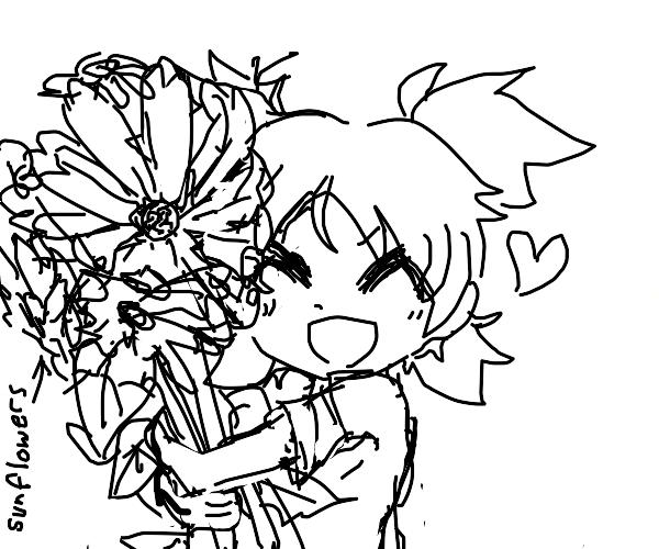 Yotsuba & sunflower