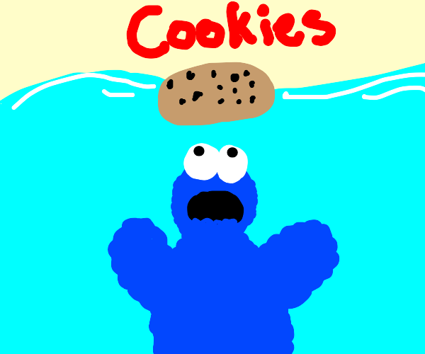 Jaws but with the Cookie monster