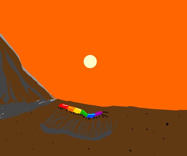 Centipede celebrating gay rights