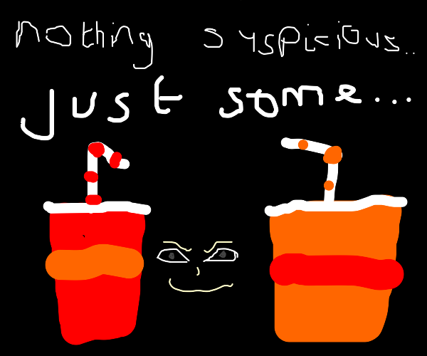 nothing suspicious, just a smoothies