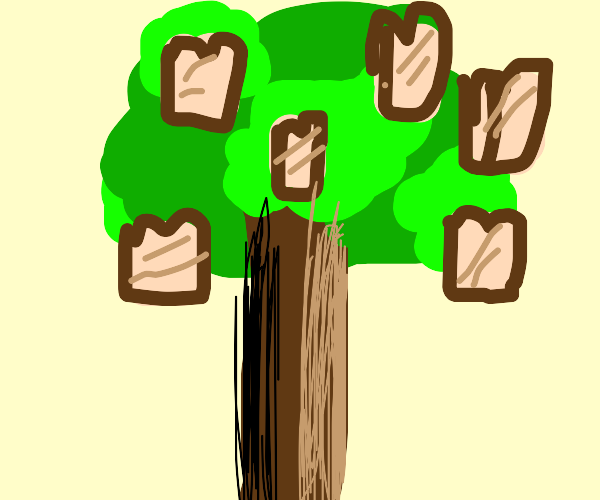 Tree grows toast