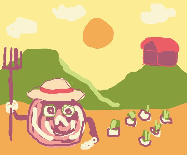 Shred the onion farmer