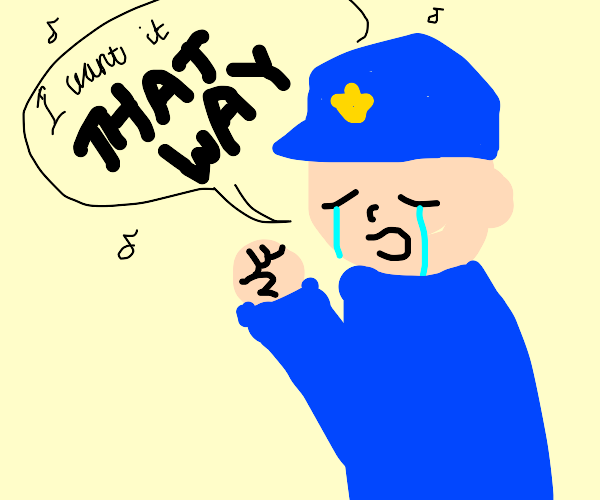 """Police officer singing """"I want it that way"""""""