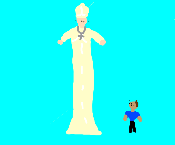 At least 9 foot tall Pope