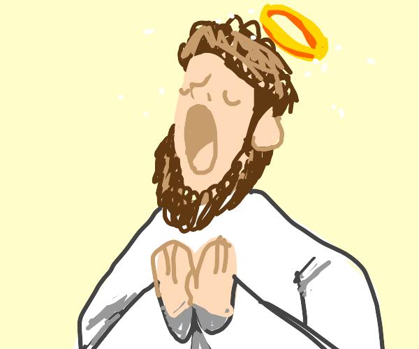 God Yawning