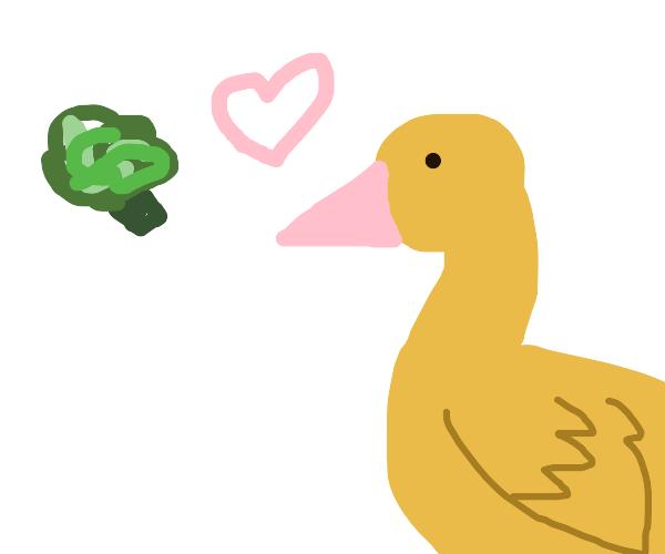 broccoli & goose find true love at last. Aww!