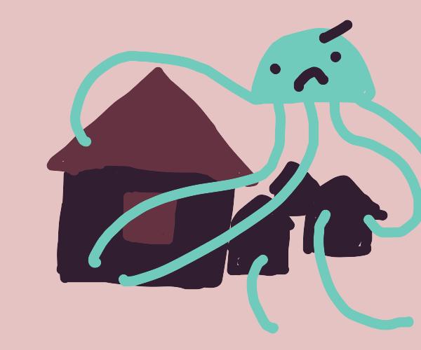 jellyfish terrorizes town