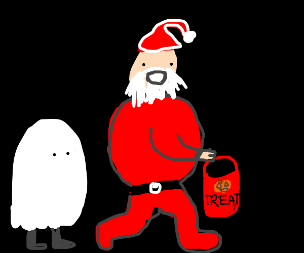 Santa's first time Trick or Treating