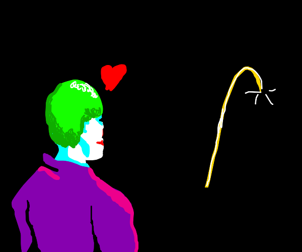 The joker admires nasa rockets