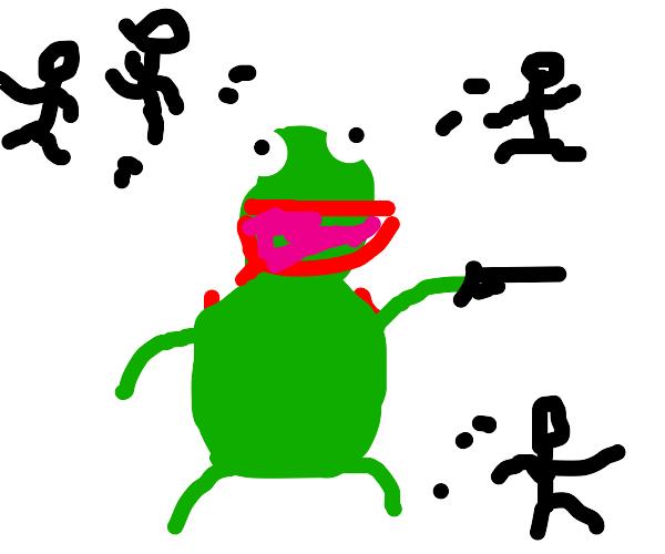 KERMIT HAS A GUN