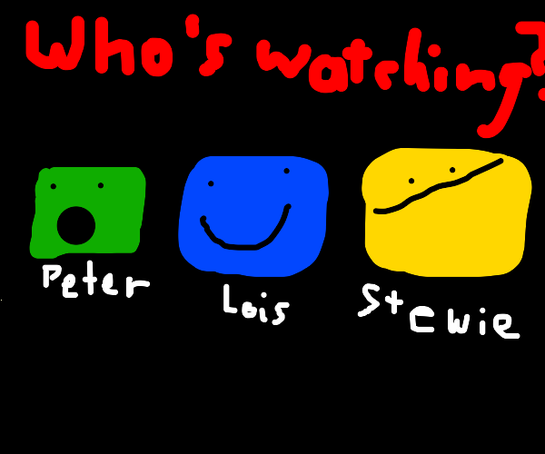"""Who's watching?"" Screen on netflix"