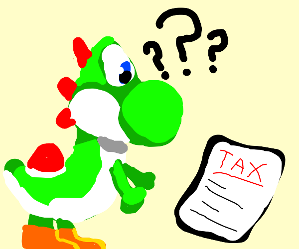 yoshi doesnt know how to do taxes