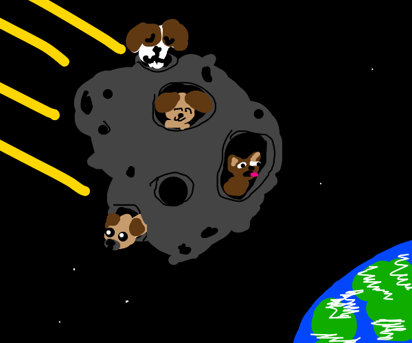Meteor made of puppies