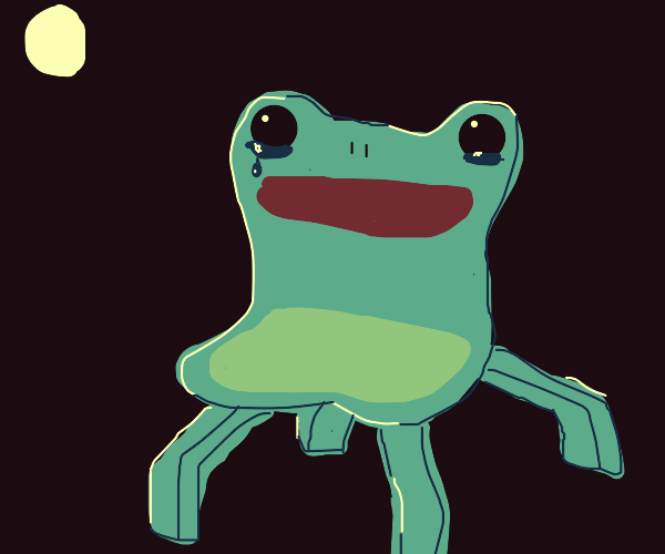 Froggy Chair sheds a tear in the moonlight