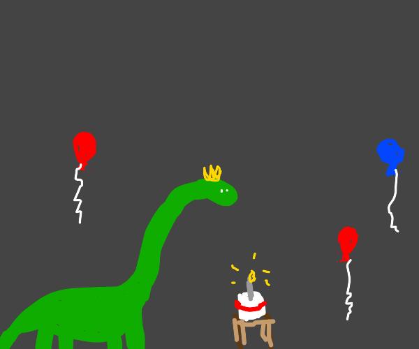 happy birthday, brontosaurus!