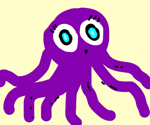 Octopus with messed up eyes